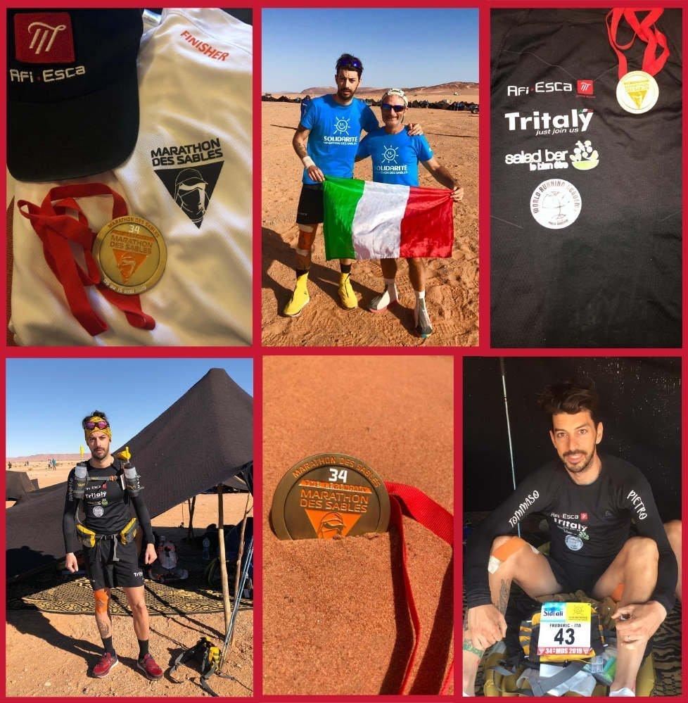 Afi Esca alla Marathon Des Sables 2019